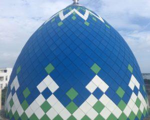 informasi harga kubah masjid bahan enamel