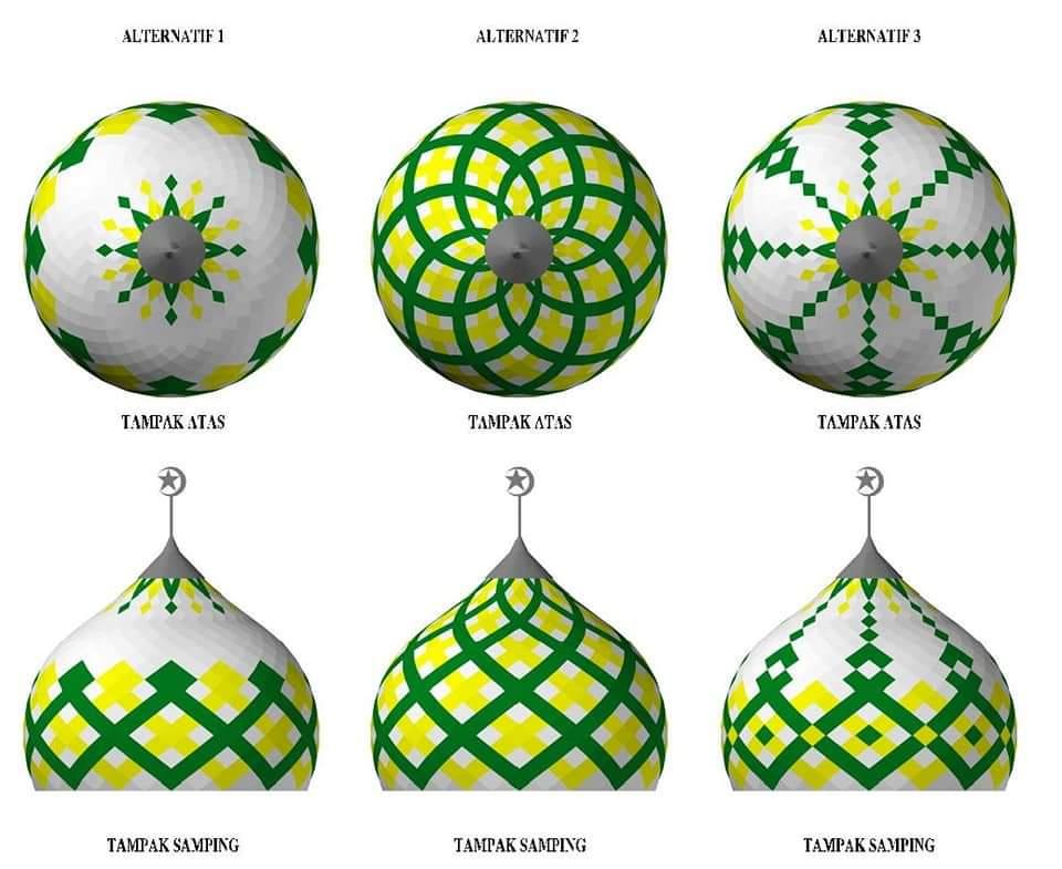 contoh model kubah masjid