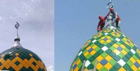 model kubah masjid modern